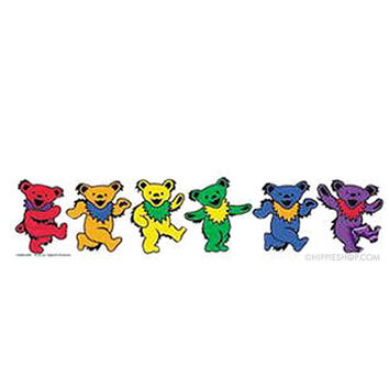 Grateful Dead - Happy Dancing Bears Bumper Sticker on Sale for $2.99 at HippieShop.com