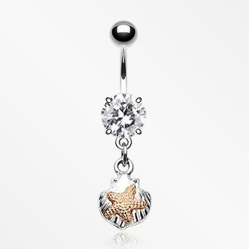 Vintage Starfish Shell Belly Button Ring