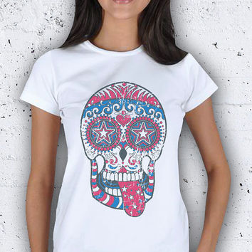 Crystal Skull Figure Women T-Shirt / Special Production (Limited Edition)