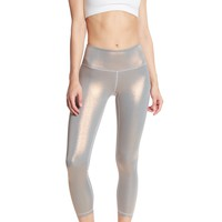 Z By Zella | High Waist Daily Midi Metallic Pants | Nordstrom Rack