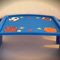 Personalized Hand Painted Lap Desk With Sports Theme