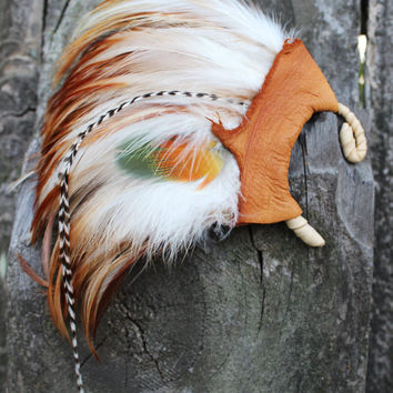 Beautiful and Stunning Earth Tones Feather Ear Cuff, Bohemian, Tribal, Native American Inspired, Nature, Spiritual