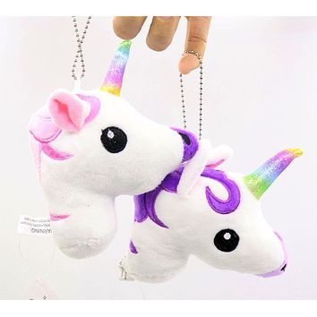 HOT pudcoco Newest Arrivals Hot Babies Unicorn Horse Keychain Keyring Bag Charm Pendant Color Lovely Small Pendant