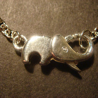 Silver Elephant Clasp Necklace