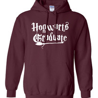 Hogwarts Graduate Hoodie Printed Hooded Sweatshirt Mens Womens Ladies Funny Harry Potter Wizard Magical ML-008W