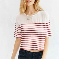 BDG Sheer Striped Cropped Top-