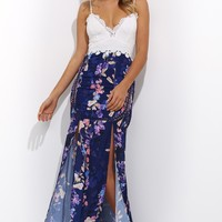 Spring Time Maxi Dress Navy