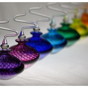 Fishnet Disc Perfume Bottles by Susan Knecht: Art Glass Perfume Bottles | Artful Home