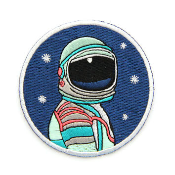 Limited Edition Space Explorer Circle Iron On Patch