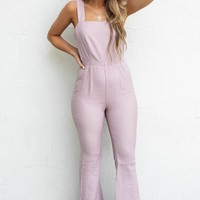 Back By Midnight Mauve Open Back Jumpsuit