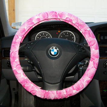 Custom Pink Tennis Balls Steering Wheel Cover
