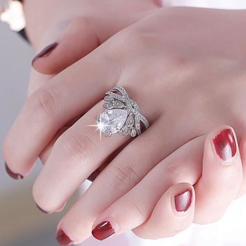 New Arrival Jewelry Gift Stylish Shiny 925 Silver Baby Crown Ring [8380558791]