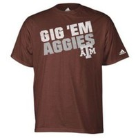 Academy - adidas Men's Texas A&M University Gig 'Em Aggies T-shirt
