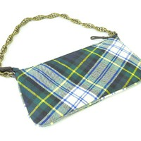 J.Crew Plaid Bag | Tartan Purse | Chain Strap Prep