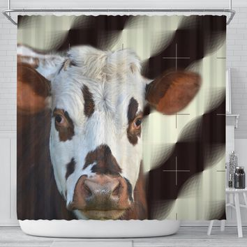 Normande Cattle (Cow) Print Shower Curtain-Free Shipping