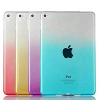 For Ipad Mini Gradient Case Candy Rainbow TPU Rubber Funda Case For Apple Ipad Mini 1 2 3 4 Tablet Transparent Cover Capa Para