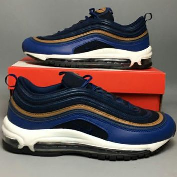 NIKE AIR MAX 97 2018 Classic Shock Absorbing Running Shoes F-CSXY blue