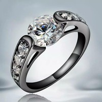 Black GP Promise Or Engagement Ring