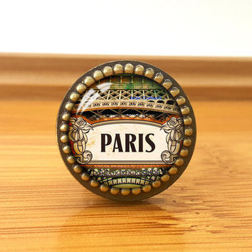 Paris--Drawer knobs/ Handmade Vintage Bronze Dresser knobs cabinet Dresser Knobs pull / Dresser Pull / Cabinet Knobs / Furniture Knobs
