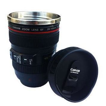 Premium Short Camera Lens Cup Mug Photographer Gift- SCLENSCUPB
