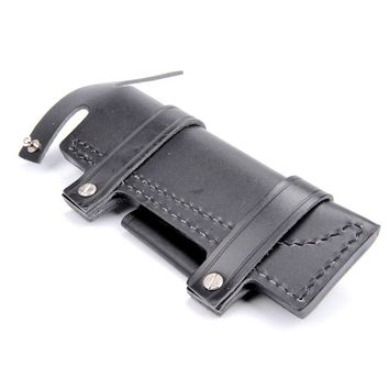 "Collectable Straight Man-made Survival Leather Belt Sheath Scabbard For 7"" Fixed Knife black Color 20 x 6.5 cm K"