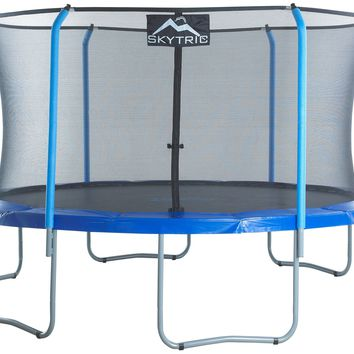 Skytric 15 Ft. Trampoline W/ Top Ring Enclosure System - UBSF02-15