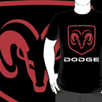 dodge logo black t-shirt