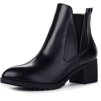 Patent Leather Women Boots Pointed Toe Ankle Boots for Women Chelsea Boots Med Heeled Shoes Woman