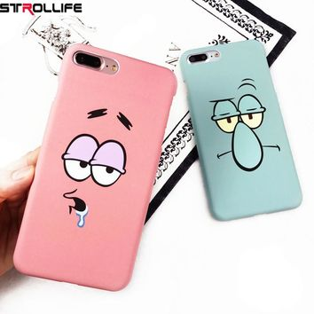 STROLLIFE Funny Cartoon Character Face Emoji Phone Cases For iPhone 6 Case Slim Frosted Hard Cover Coque For iphone 6S 7Plus 5s