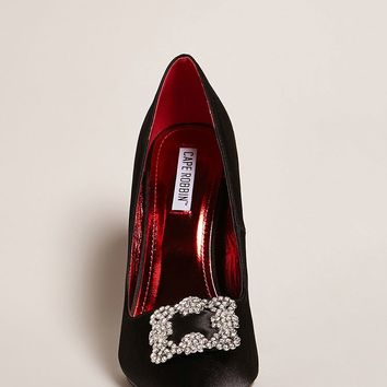 Bejeweled Satin Pumps