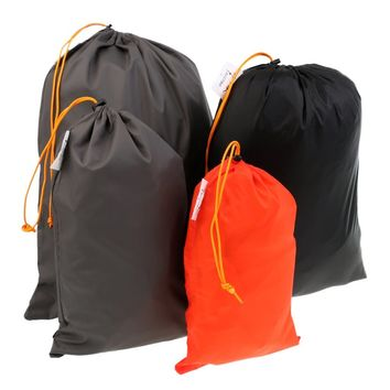 5 Pieces Outdoor Travel Luggage Organizer Drawstring Clothes Shoes Stuff Sack Set for Safety Camping Hiking Climbing Accessories