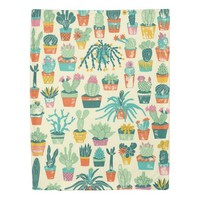 Colorful Cactus Flower Pattern Duvet Cover