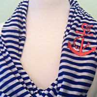 Anchor Infinity Scarf, Anchor Nautical Rope Scarf or Anchor with Bow Scarf