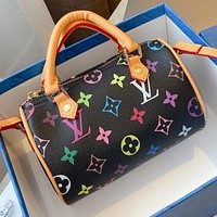 LV simple color letter printing women's handbag shoulder bag crossbody bag