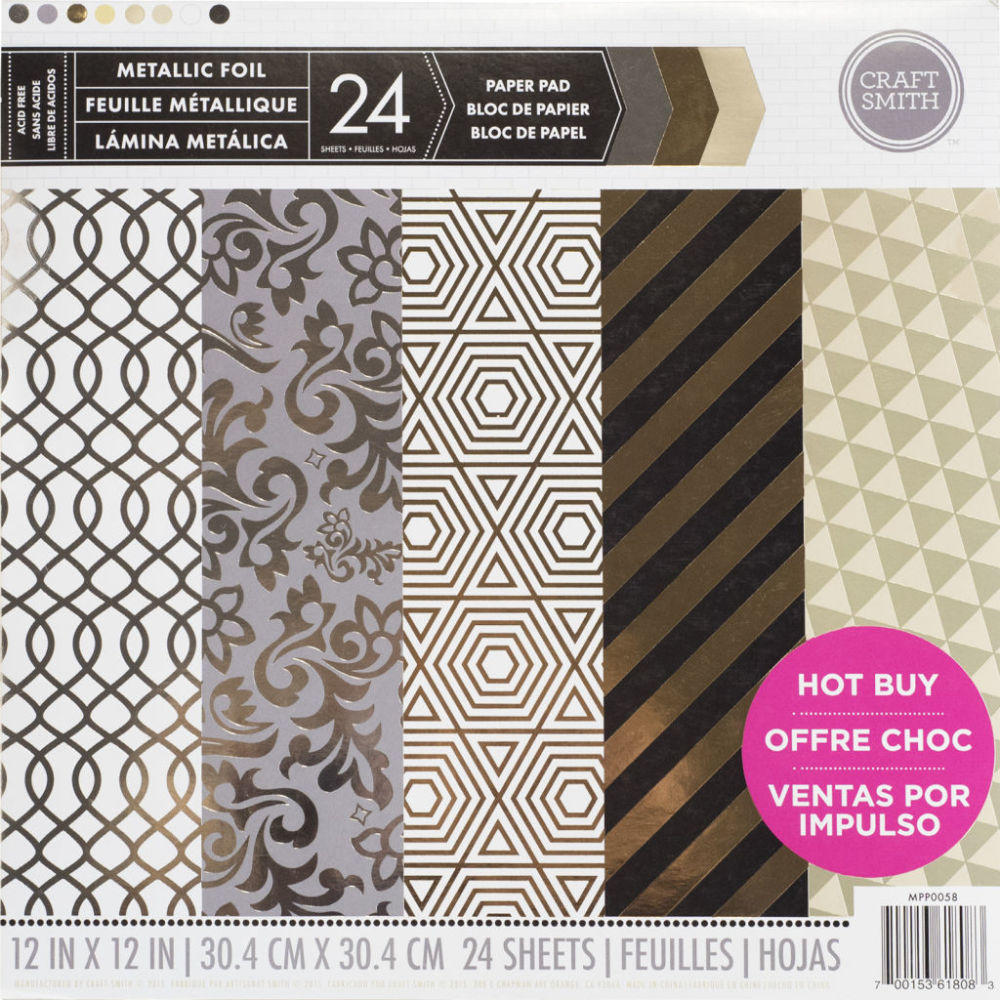 Craft smith metallic foil paper pad from michaels for Silver foil paper craft