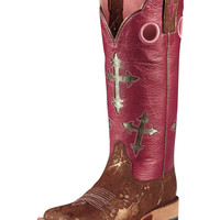 Ariat Women's Ranchero Boot - Metallic Copper/Pink/Blingin Pink