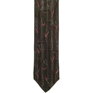 Dion Collection Foulard Extra Long Wide Italian Silk Tie - Multicolor