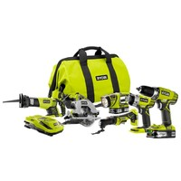 Ryobi ONE+ 18-Volt Lithium-Ion ULTIMATE Combo Kit (6-Tool)-P884 at The Home Depot