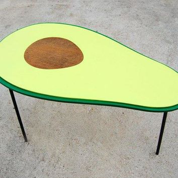 Avocado Table Handmade Coffee Table / Side Table / Bedside Table / Nighstand / Hairpin Legs / Blond Brown Black Mustache