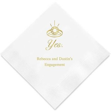 Yes To The Ring Printed Paper Napkins (Sets of 80-100)