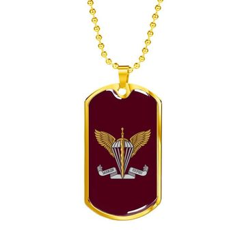 Ukrainian Air Assault Forces - 18k Gold Finished Luxury Dog Tag Necklace