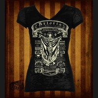 Tattooed Lady Artoria V-Neck Tee