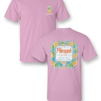 Sassy Frass Pineapple a Day Keeps the Worries Away Girlie Bright T Shirt