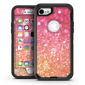 Unfocused Pink and Gold Orbs - iPhone 7 or 7 Plus OtterBox Defender Case Skin Decal Kit