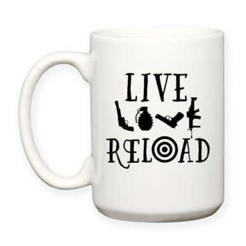 Live Love Reload, 2nd Amendment, Right To Bear Arms, Coffee Mug