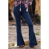 Janis Bell Bottom Jeans - Dark Wash