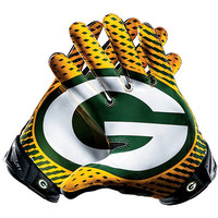 Men's Nike Green Bay Packers Vapor Jet 2.0 Gloves