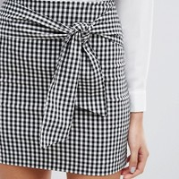 Miss Selfridge Gingham Mini Skirt at asos.com