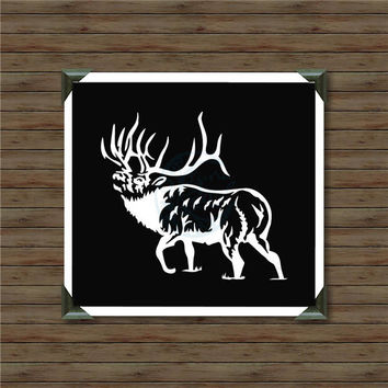 ELK / vinyl decal / car decal / hunting decal / bow and arrow decal / black bear / hunter decal / bowhunter / deer hunting