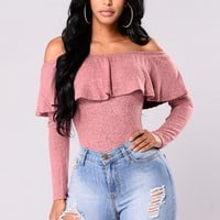Chic And Sweet Top - Dusty Rose